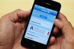 Twitter sur l'iPhone 4