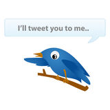 Twitter with text Royalty Free Stock Photos