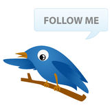 Twitter with text Royalty Free Stock Photo
