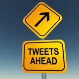 Twitter tweets ahead Royalty Free Stock Photos