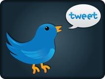 Twitter-Vogel Lizenzfreies Stockbild