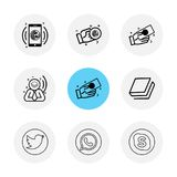 Twitter , whatsapp , skype , book , Nexus , nxs , crypto , currency , crypto cuurency , money , exchange , coin , dollar , graph. Icon, vector, design, flat stock illustration