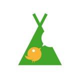 twittering在圆锥形帐蓬的逗人喜爱的鸟 免版税库存图片