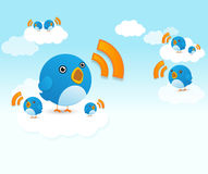 Twittervögel Lizenzfreie Stockfotos