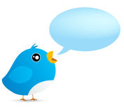 Twittervogel Lizenzfreie Stockfotos