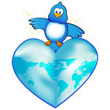 Twittr Bluebird Earth Stock Image