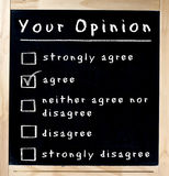 Twój badanie opinii publicznej na Chalkboard Obrazy Stock