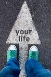 Twój życie znak Obraz Stock