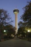 Twlight auf dem Kontrollturm von Amerika Lizenzfreie Stockfotografie