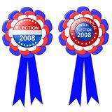Two 2008 election ribbons Royalty Free Stock Photo