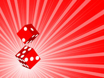 Two 3d dice. Vector illustration Stock Photography