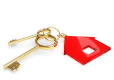 Two 3d gold key Stock Photo