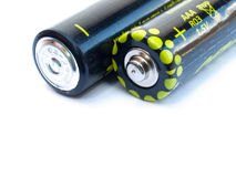 Two AAA batteries Stock Photos