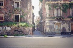 Two abandoned houses. Royalty Free Stock Images