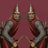 Two Abstract Archers Stock Photo