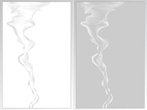 Two abstract background with smoke grey and white Stock Photo