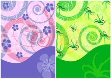 Two abstract backgrounds Stock Image