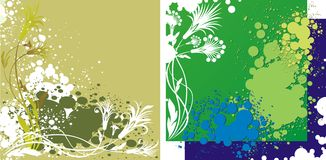 Two abstract backgrounds Royalty Free Stock Photography