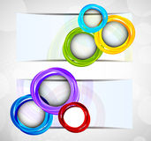 Two abstract banners Stock Images