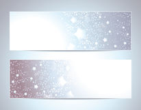 Two Abstract banners backgrounds Stock Photography