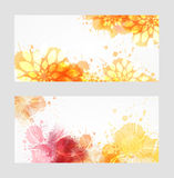 Two abstract banners Royalty Free Stock Photography