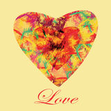 Two abstract colorful hearts Stock Photo