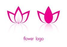 Two abstract flower logos. Flower logos for your design stock illustration
