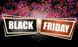 Two abstract frames with Black Friday text. vector illustration