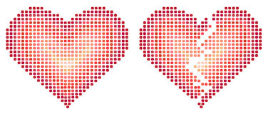 Two abstract heart vector Stock Photo