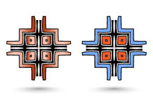 Two abstract inca cross Stock Photography