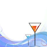 Two abstract martini drinks Royalty Free Stock Photo