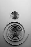 Two abstract metallic spirals Stock Photos