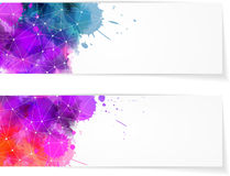 Two abstract modern banners Royalty Free Stock Images