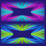 Two Abstract Pattern Designs Royalty Free Stock Photo