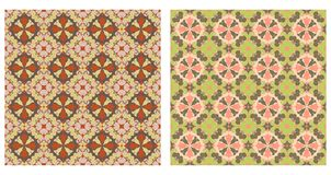 Two abstract patterns seamless. Two colorful geometric patterns seamless. Arabesque style Royalty Free Stock Images