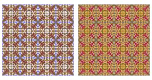 Two abstract patterns seamless Stock Image