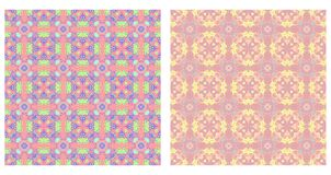 Two abstract patterns seamless Royalty Free Stock Photo