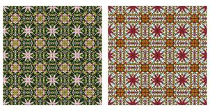Two abstract patterns seamless Royalty Free Stock Image