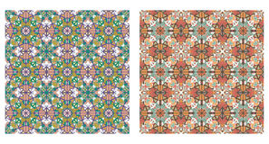 Two abstract patterns seamless Royalty Free Stock Images