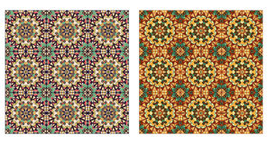 Two abstract patterns seamless Royalty Free Stock Photography