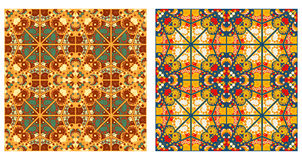 Two abstract patterns seamless Stock Photos