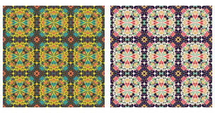 Two abstract patterns seamless Stock Photography