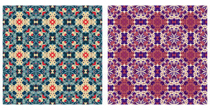 Two abstract patterns seamless Stock Images