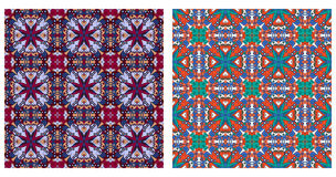 Two abstract patterns seamless Royalty Free Stock Photos