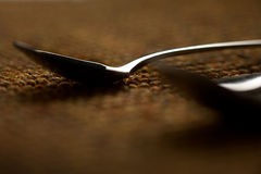 Two abstract spoons Royalty Free Stock Photos