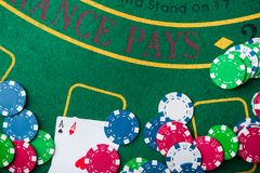 Two ace in poker game Stock Photography