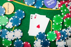 Two ace in poker game Royalty Free Stock Image