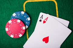 Two ace in poker game Royalty Free Stock Photography