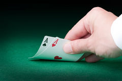 Two aces Royalty Free Stock Image