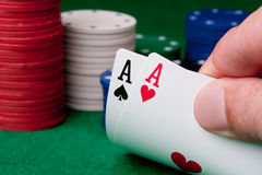 Two aces Stock Photos